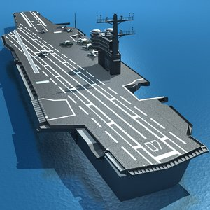 uss ronald reagan aircraft 3d model