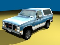 gmc jimmy truck 3d 3ds