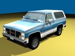 gmc jimmy truck 3d 3ds