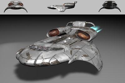 starship tyr 3d model