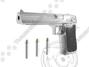 3d 357 desert eagle pistol model