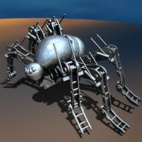 free spider robot 3d model