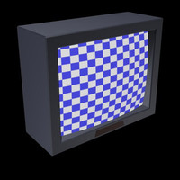 cinema4d low-poly television