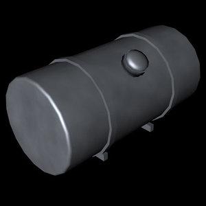 c4d truck fuel tank
