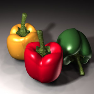 sweet pepper zipped 3d model