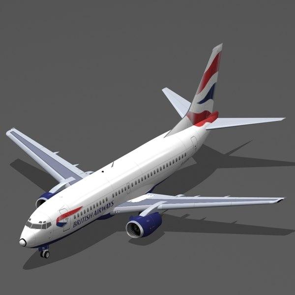 3d b 737-300 british airways
