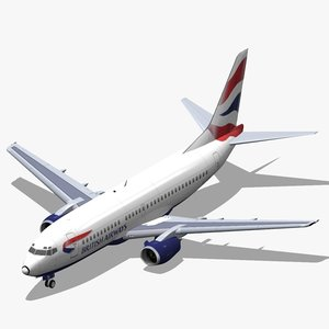 3d b 737-300 british airways