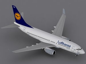 3d b 737-700 lufthansa model