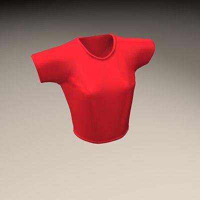 t-shirt women 3d model