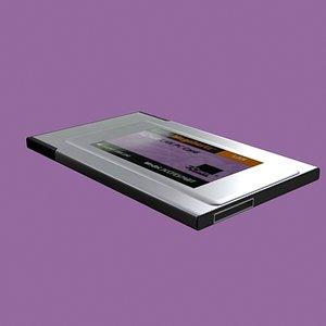 card laptop 3d model