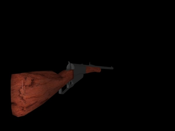 winchester rifle 1895 3d model