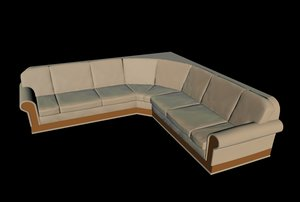 3d corner couch
