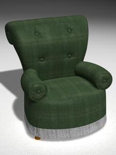 armchair chair c4d