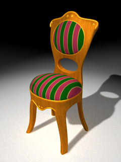 padded chair c4d