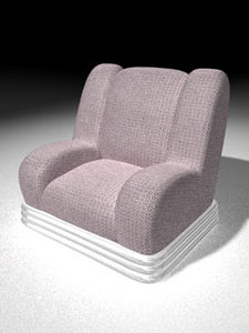 3d pink arm-chair model