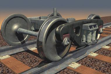 track trucks 3d model