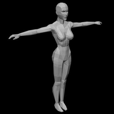 woman realtime 3d model