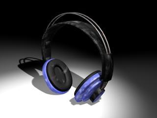 3d model earphone