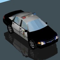 3ds max police car vehicle impala
