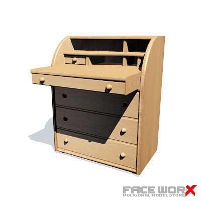 3d bureau desk