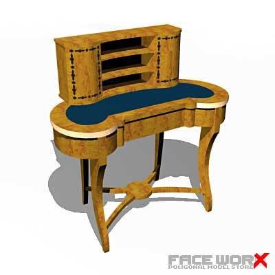 desk old fashioned 3d max