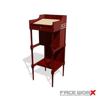 3d desk old fashioned