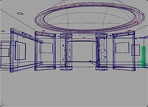 interior museum iges 3d ige