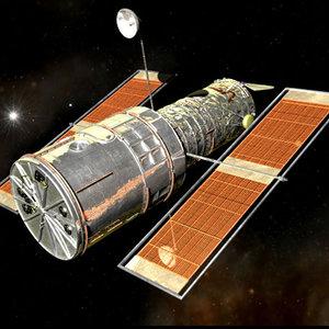 hubble astronaut 3d model
