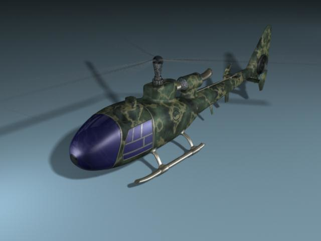 heliocopter 3d model