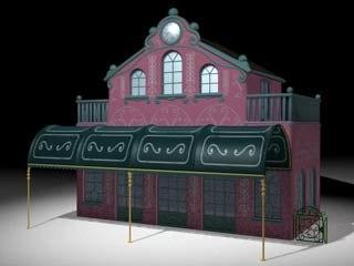 cinema4d rail station