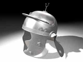 ancient roman helmet 3d model