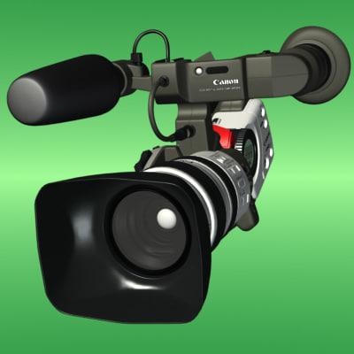 accurate canon video camera 3d model