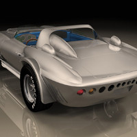 3ds max car corvette