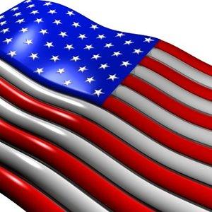 3d united states flag