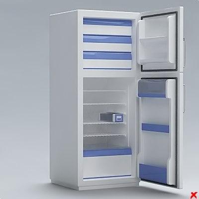 refrigerator 3d dxf