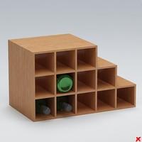 free wine rack 3d model