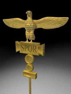 ancient roman vexillum 3d c4d