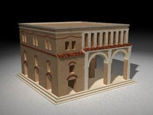 ancient roman building 3d c4d