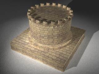 tomb building mausoleum 3d c4d