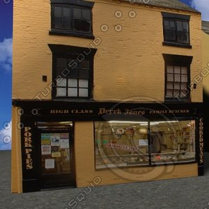 free butchers shop 3d model