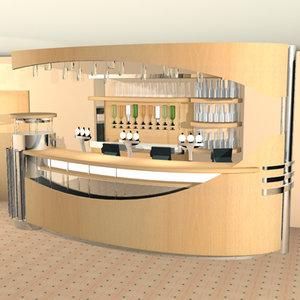 bar hotel interior 3d model