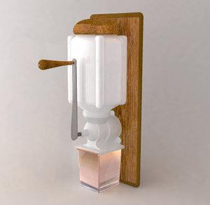 3d old coffee grinder model