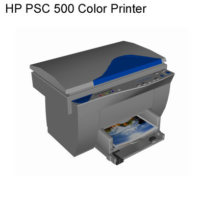 3ds max hp psc printer