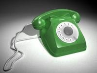 3d telephone model