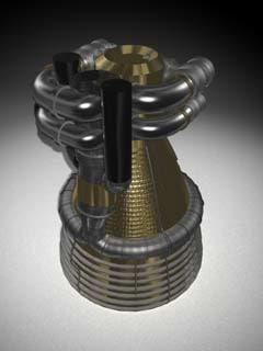 3d ejection engine model
