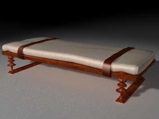 ancient roman bench 3d c4d