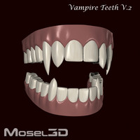 3d model vampire teeth