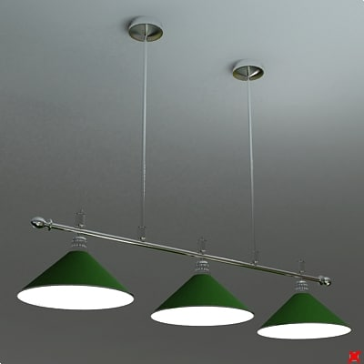 3d lamp billiard model