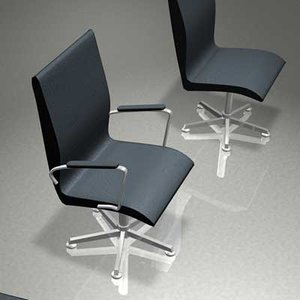 3d model furniture office chairs oxford