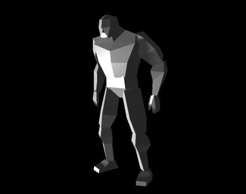 heavy man 3d model